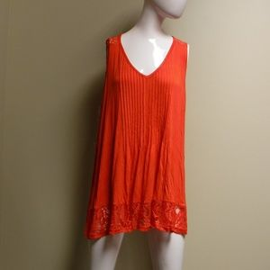 American Rag Lace/Red Tank Top Size 1X